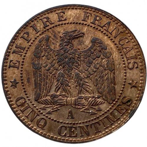 Francia 5 Centesimi 1853 A Rif. ...