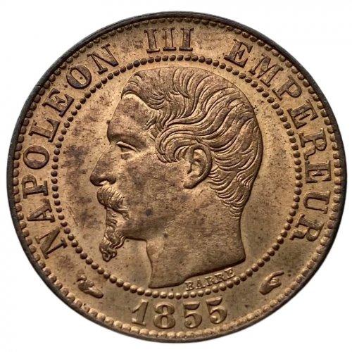 Francia 5 Centesimi 1855 A